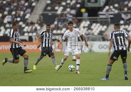 Rio, Brazil - November 04, 2018: Araos Player In Match Between Botafogo And Corinthians By The Brazi