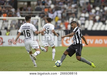 Rio, Brazil - November 04, 2018: Brenner Player In Match Between Botafogo And Corinthians By The Bra