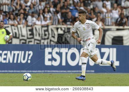 Rio, Brazil - November 04, 2018: Balbuena Player In Match Between Botafogo And Corinthians By The Br