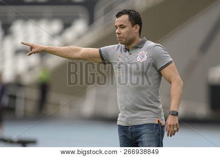 Rio, Brazil - November 04, 2018: Jair Ventura Coach In Match Between Botafogo And Corinthians By The