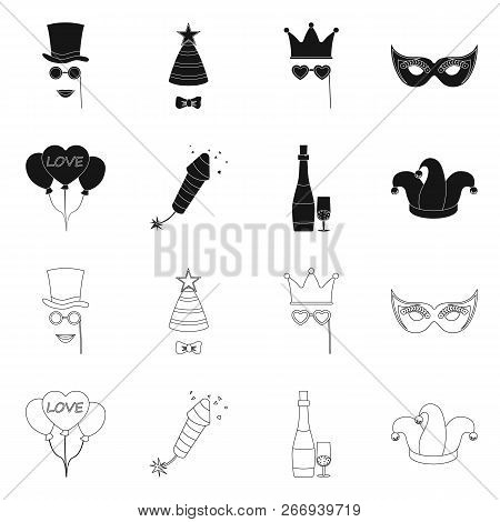 Vector Design Of Party And Birthday Logo. Collection Of Party And Celebration Stock Vector Illustrat