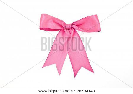 Pink bow for design
