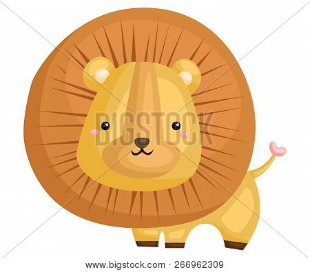 A Cute And Adorable Lion Standing Mighty