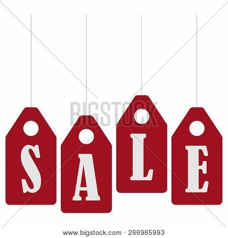 Sale Banner Template Design. Sale Poster, Black Friday Sale. Red Stickers With The Inscription Sale.