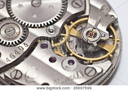 Old clockwork. Macro