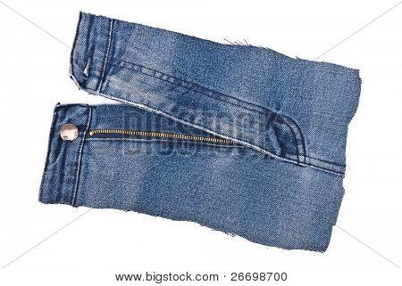 Part blue jens. Zipper poster