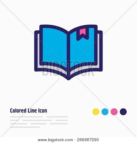 Illustration Of Read Icon Colored Line. Beautiful Read Element Also Can Be Used As Book Reading Icon