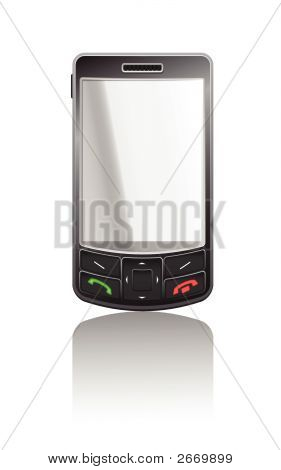 Vector Realistic Illustration Of A Black Pda