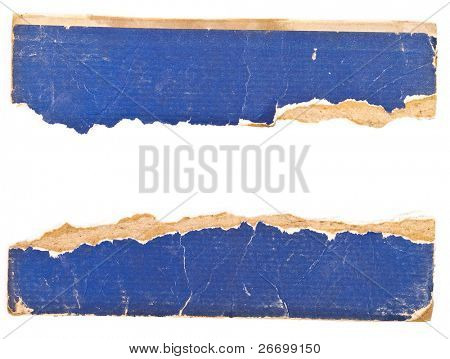 Cardboard book sheet torn