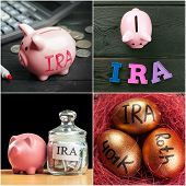 IRA. Retirement plans. object. close up. macro photography poster