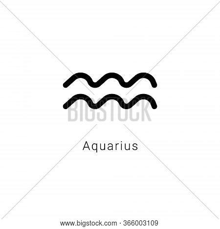 Sign Of The Zodiac. Aquarius, The Water Bearer.
