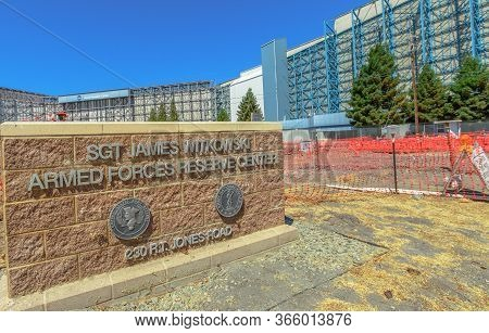 Mountain View, United States - August 15, 2016: Sgt James Witkowski Armed Forces Reserve Center And