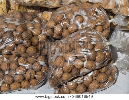 Pack Of Whole Fresh Walnuts With Hard Nutshells