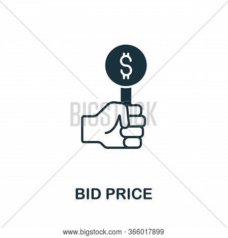 Bid Price Icon From Investment Collection. Simple Line Bid Price Icon For Templates, Web Design And