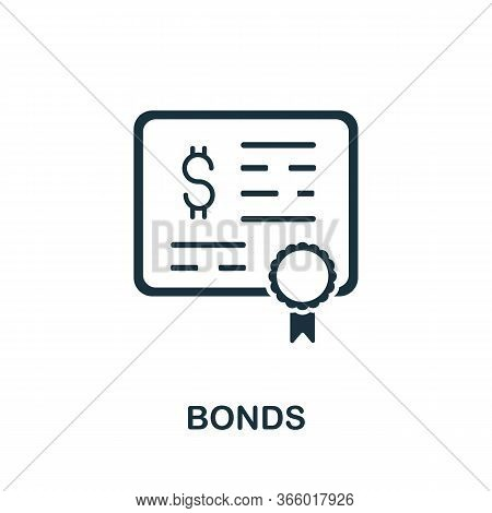 Bonds Icon From Investment Collection. Simple Line Bonds Icon For Templates, Web Design And Infograp