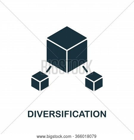 Diversification Icon From Investment Collection. Simple Line Diversification Icon For Templates, Web