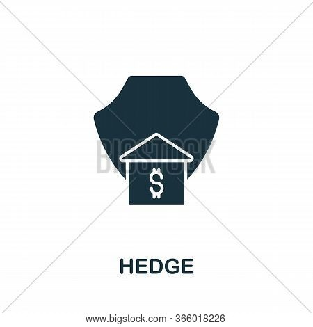 Hedge Icon From Investment Collection. Simple Line Hedge Icon For Templates, Web Design And Infograp