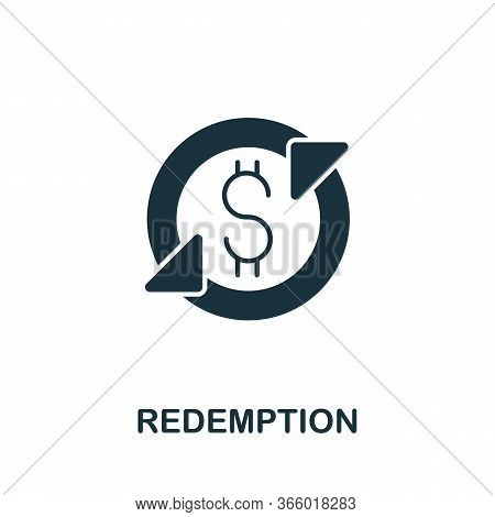 Redemption Icon From Investment Collection. Simple Line Redemption Icon For Templates, Web Design An