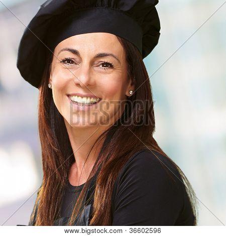Portrait Of A Happy Woman, Indoor poster