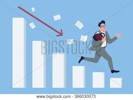 Economic Crisis Flat Concept Vector Illustration