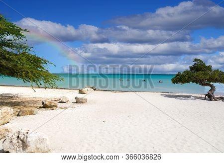 Idyllic Views Of A Beach On Aruba