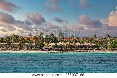 Resorts And Tropical Condos On The Beach Of Aruba