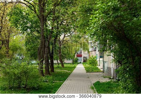Rustic Park Outdoor City Square Walking Area Outdoor Environment Space Small Promenade Trail Surroun