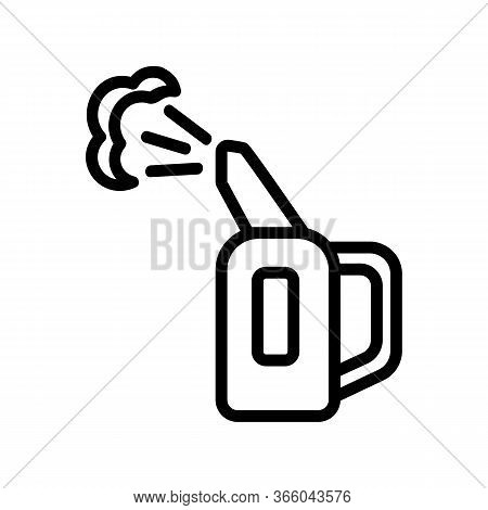 Steam Flow For Steam Iron For Vertical Ironing Icon Vector. Steam Flow For Steam Iron For Vertical I