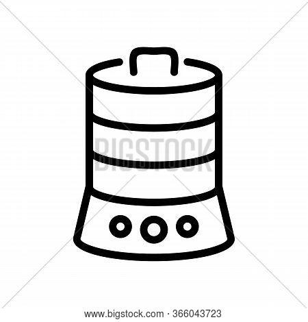 Kitchen Multi Tier Double Boiler Icon Vector Outline Illustration