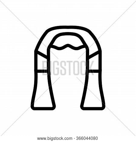 Neck And Shoulder Massager Icon Vector. Neck And Shoulder Massager Sign. Isolated Contour Symbol Ill