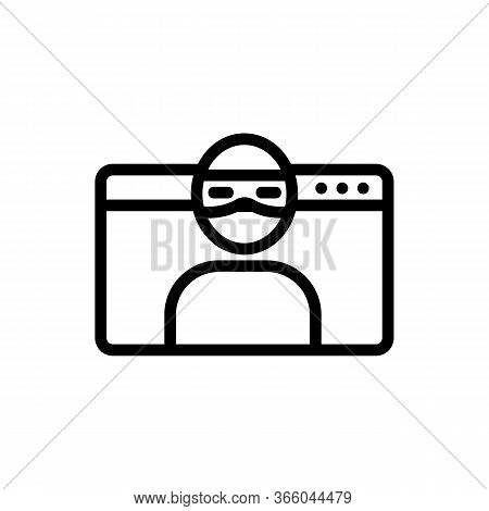 Hacker Spying On Information Data Icon Vector. Hacker Spying On Information Data Sign. Isolated Cont