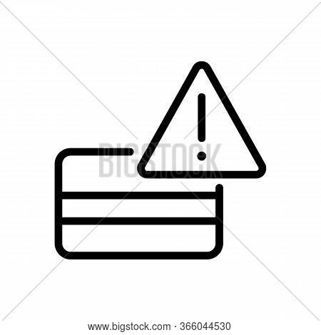 Hacking Warning Icon Vector. Hacking Warning Sign. Isolated Contour Symbol Illustration