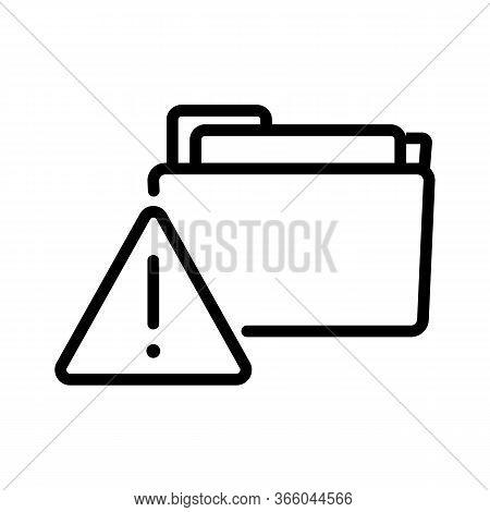 Hacking Information Folders Icon Vector. Hacking Information Folders Sign. Isolated Contour Symbol I