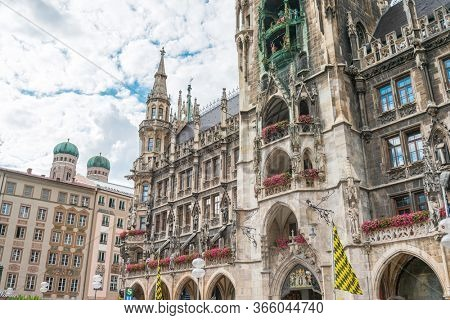 MUNICH, GERMANY - June 25, 2018: Mary's Square (Our Lady's Square) in Munich, Germany