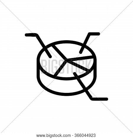 Parsing Analysis Pie Chart Icon Vector. Parsing Analysis Pie Chart Sign. Isolated Contour Symbol Ill