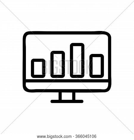 Computer Chart Indicator Icon Vector. Computer Chart Indicator Sign. Isolated Contour Symbol Illustr