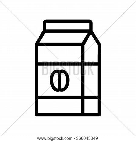 Packaged Muesli Icon Vector. Packaged Muesli Sign. Isolated Contour Symbol Illustration