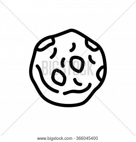 One Oatmeal Nutritious Cookie Icon Vector. One Oatmeal Nutritious Cookie Sign. Isolated Contour Symb