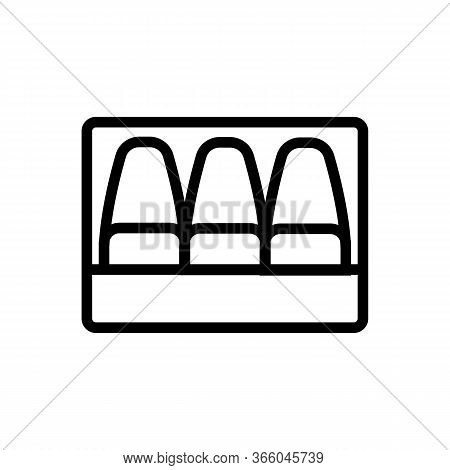 Chopped Fish Fillet Icon Vector. Chopped Fish Fillet Sign. Isolated Contour Symbol Illustration