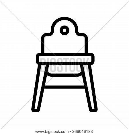Plain Plastic Baby Chair Icon Vector. Plain Plastic Baby Chair Sign. Isolated Contour Symbol Illustr