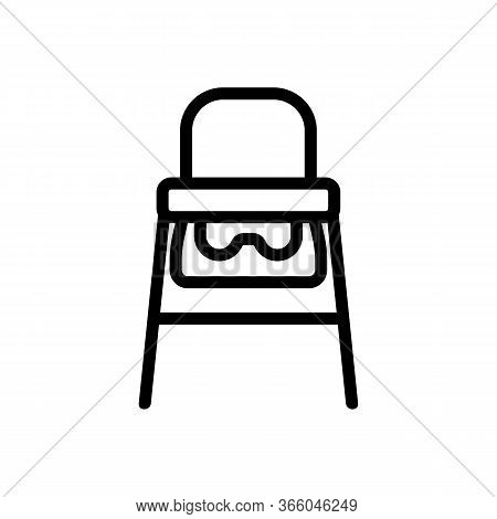 Travel Highchair Icon Vector. Travel Highchair Sign. Isolated Contour Symbol Illustration