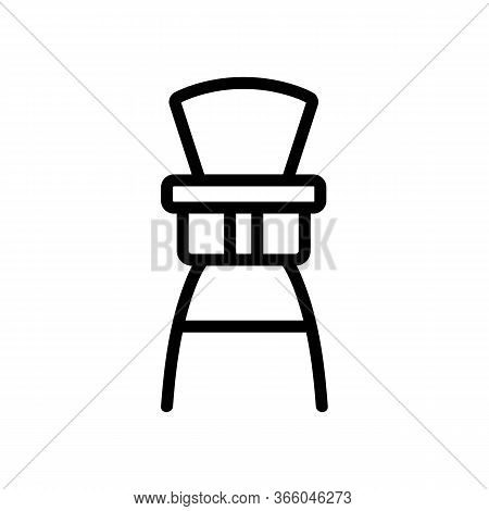 High Chair Booster Attached To Large Chair Icon Vector. High Chair Booster Attached To Large Chair S