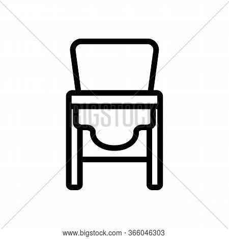 Sagging Chair Transformer For Feeding Icon Vector. Sagging Chair Transformer For Feeding Sign. Isola
