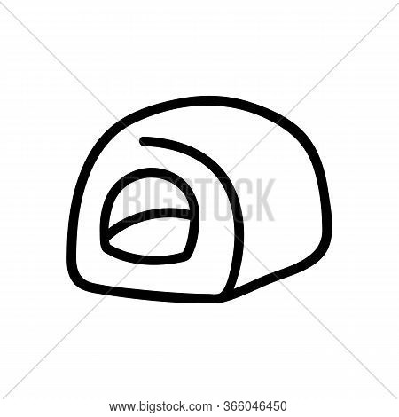 Dog Tissue Box Side View Icon Vector. Dog Tissue Box Side View Sign. Isolated Contour Symbol Illustr