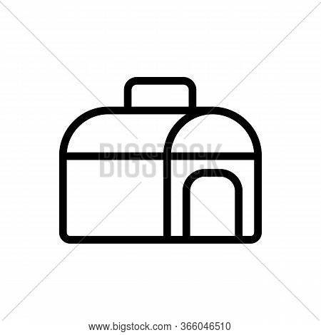 Semicircular Portable Doghouse Icon Vector. Semicircular Portable Doghouse Sign. Isolated Contour Sy