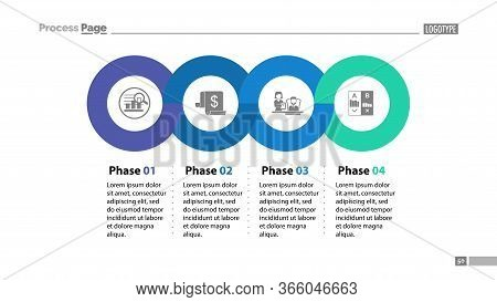 Four Phases Process Template. Business Data. Graph, Chart, Design. Creative Concept For Infographic,