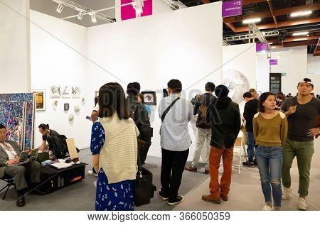 Taipei, Taiwan - October 20th, 2019: Art Taipei Expo is the landmark of Asian Art at Taipei, Taiwan