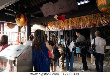 Nantou, Taiwan - September 27th, 2019: famous attraction of Zi Nan Temple in Zhushan Township, Nantou County, Taiwan, Asia