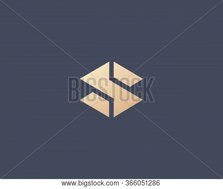 Abstract Letter S Logo Design Template. Ceative Modern Icon Sign. Universal Construction Building Ge