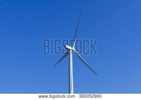 Sint Gillis Waas, Belgium, April 19, 2020. Wind Energy From The Wind Turbines Of Engie Electrabel An